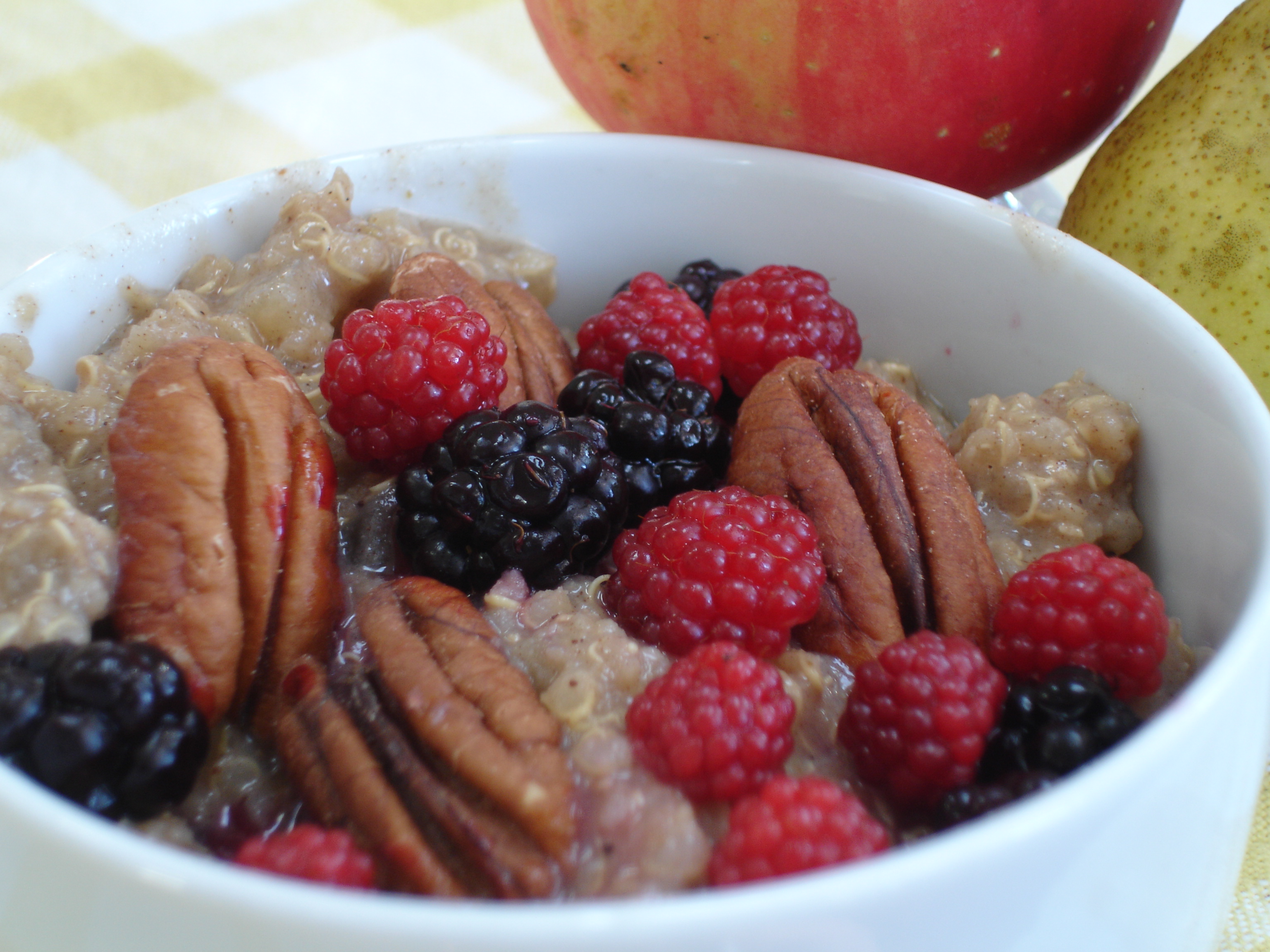 Quinoa Porridge Cooked with Fall Apples & Pears |