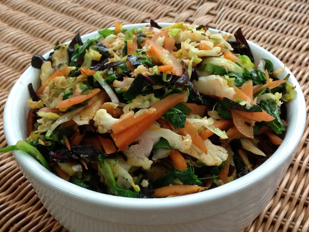Brussels Sprouts Stir Fry with Early Spring Vegetables