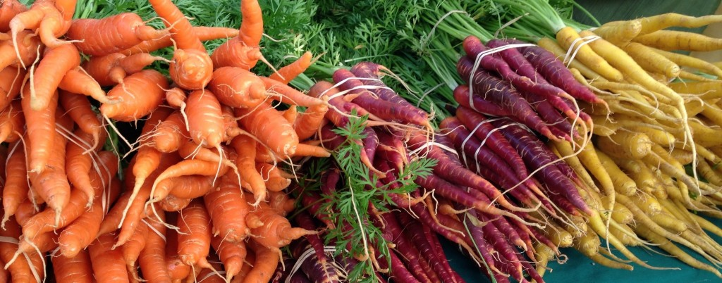 Rainbow Carrots at the Farmers Market
