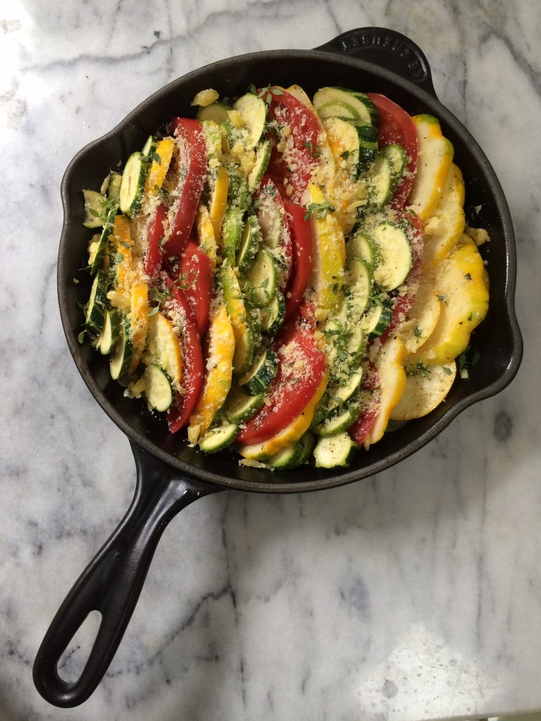 Baked Summer Squash & Heirloom Tomatoes
