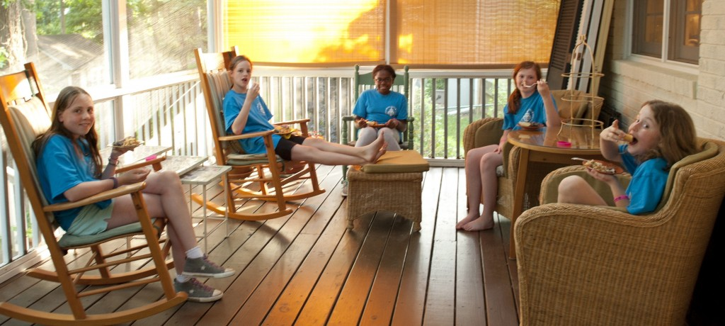 Relaxing on the porch after dessert. Image by CaseyBoonePhotography.com. All rights reserved